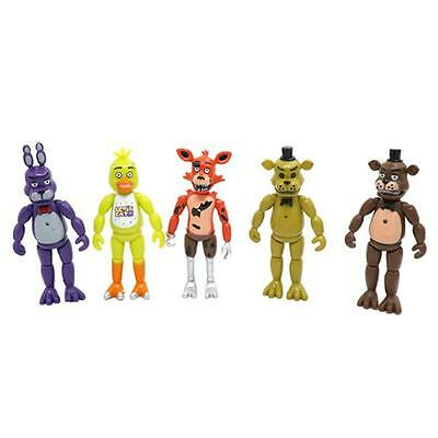 5Pcs/Set Five Nights At Freddy's Action Figures Toys Doll With Light FNAF Set