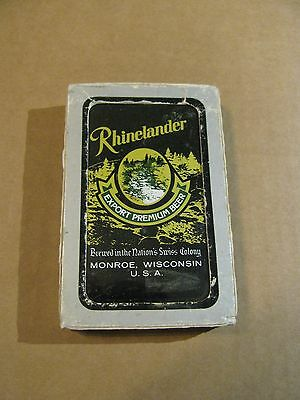 Rhinelander Joseph Huber Monroe Wisconsin Wi  Bridge Poker Playing Cards Black