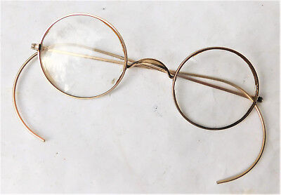 NO RESERVE Original Gold Plated Vintage Round Spectacles