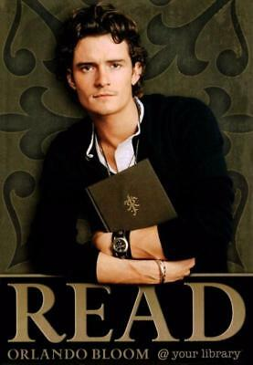 Orlando Bloom READ Bookmark ~ 2004 pack of 100! SEALED.