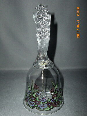 Avon Collectible Lead Crystal 1992 Edition Floral Fantasy Bell Label