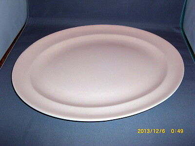 Poole Pottery Dinnerware Oval Serving Platter Twintone Peach Pink Pattern 13""