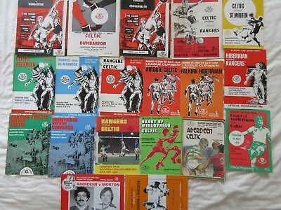 Collection of Scottish League Cup Semi-Final and Final Programmes - 1970s