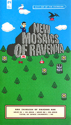 Invader MAP OF RAVENNA Invasion Map # 24 Limited Edition of 1000 IN HAND