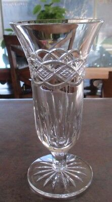 Waterford Crystal, 7 1/4 inch Footed Bud Vase - Intricately Cut, Excellent Cond.