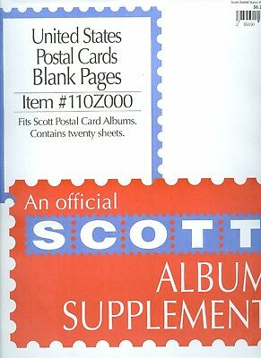 Scott United States Postal Cards Blank Pages