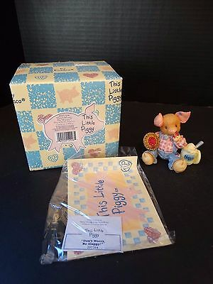 This Little Piggy ~ DON'T WORRY BE SLOPPY ~ Boy with Pie & Ice Cream ~ NIB