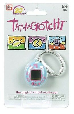 Pre-BANDAI Tamagotchi 20th Anniversary Digital Pet Blue Pink Limited Edition