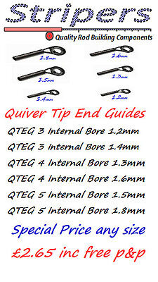 Rod Building & Repair. Quiver Tip End Guides Rings. SPECIAL OFFER NOW £1.99.