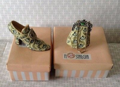 Nostalgia If The Shoe Fits Shoe And Matching Bag Collectables