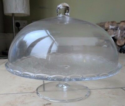 BNIP IKEA ARV BROLLOP Cake Stand With Lid. Clear Decorative Glass.