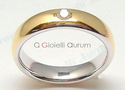Pair wedding rings bicolor with natural diamond