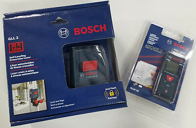 Bosch 100' Laser Measure & 30' Self Leveling Combo Kit (2-TOOL) GLM 30 + GLL 2