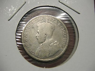 Canada 1929--25 Cent George V. Silver Coin (DATE IS HARD 2 READ)