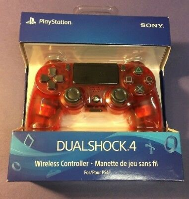 Official Sony PS4 DualShock 4 Wireless Controller [ Crystal Edition / RED ] NEW