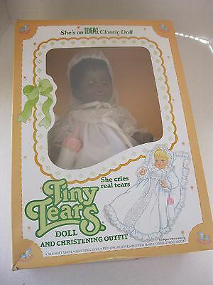 Ideal 1984 Tiny Tears Doll and Christening Outfit African American Doll NRFB