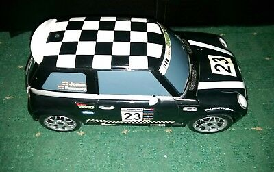 Push Along Mini Cooper with Hidden Fold Out Racing Track Inside
