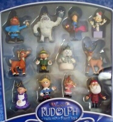 RUDOLPH red nosed REINDEER miniature clip on CHRISTMAS TREE ornaments rankin bas