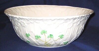 Belleek Shamrock -  Large Daisy Fruit Bowl (Excellent)