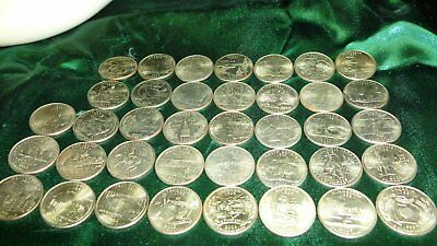 American Quarter Dollars - States Quarters  38 different in great condition!!!