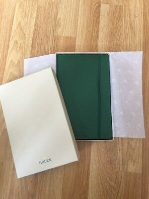 Rolex Green Leather Notepad Brand New Genuine