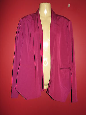 HARPER AND GRAY Women's Wine Open Front Jacket - Size Large - NWT $68