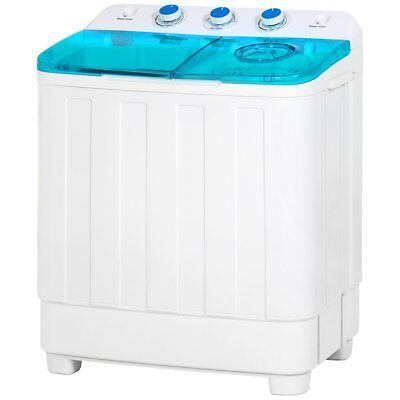 Mini Twin Tub Portable Compact Washing Machine Spin Dry Cycle- 12lb