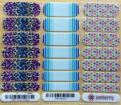 Jamberry Lot of 3 seven-wrap Manis - all retired and hard to find!