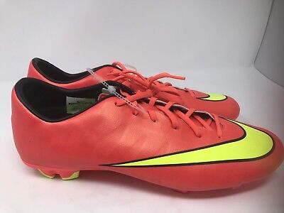 3279a9def Mens 13 Nike Mercurial Victory V IC Indoor Soccer Shoes Hyper Punch  651635-690