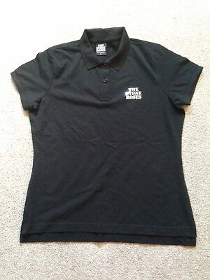 The Stone Roses Polo Shirt In Black Ladies Size Large