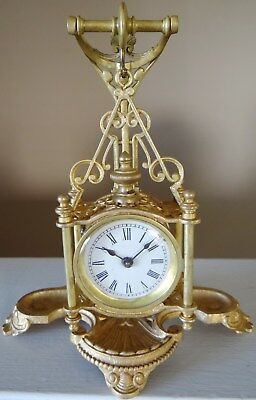 "1901 Ansonia Novelty Clock - ""Volunteer""  Unusual Suspended Clock"