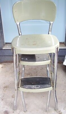 Vintage Mid century STYLAIRE Cosco Step stool fold up