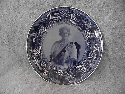 Wedgwood - The Queen Mother - Tribute Plate - Queen`s Ware - 2002