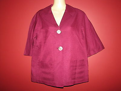 J. Jill Women's Silk Blend Cotton Lined Plum Jacket - Size XS - NWT $119