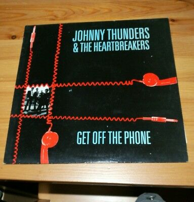 """Johnny thunders & the heartbreakers get off the phone 12"""" single"""