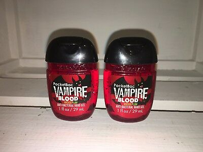 Bath & Body Works 2x Anti-Bacterial Hand Gel USA Vampire Blood Wicked Plum