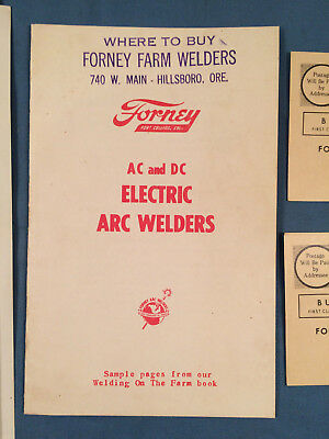 Vintage 50s farm FORNEY ARC WELDING MANUAL & Documents