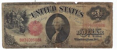 Series 1917 Red Seal $1 United States Lg Size Note