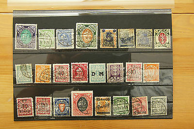Briefmarken Stamps Timbres Sellos Danzig Gdansk old used