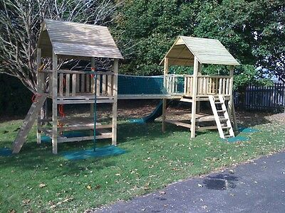 Price Reduced RRP £1595  QUALITY Double TOWERS CLIMBING FRAME 5ft BASE