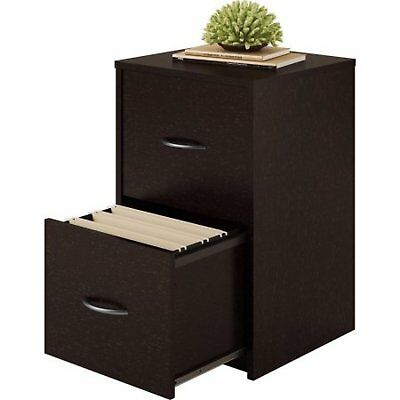 2 Drawer File Cabinet Organizer Office Wood Storage Home Furniture Cherry New