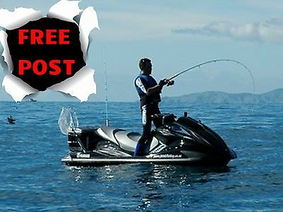 Jetski Jet Ski Fishing Rod & Reel Water Scooter Rod Speedboat Wakeboard Waterski