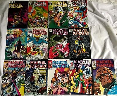 Lot Of 13 Marvel Fanfare (Marvel,1982-1984) Bronze/copper Age