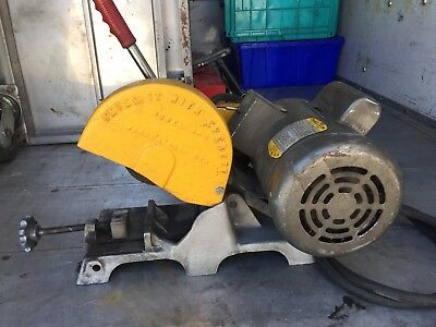 Everett Abrasive Cut Off Miter Saw Heavy Duty w/ Baldor 3 HP Motor