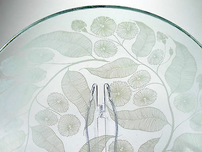 Vintage Chance Bros 'Calypto' pattern 1959 glass bowl designed by Michael Harris
