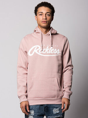 Young and Reckless Men's Big R Script Hoodie- Rose Pink