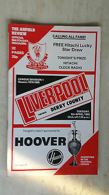 1979/80 League Programme: LIVERPOOL v. DERBY COUNTRY