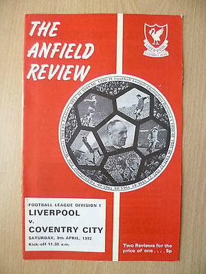 1972 League Division One- LIVERPOOL v COVENTRY CITY.