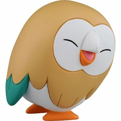 "Pokemon Moncolle Rowlet ""Smile"" EMC-28 Sun & Moon Action Figure from Japan F/S"