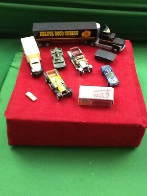 lot of VINTAGE 9 piece toy car Collection various dates